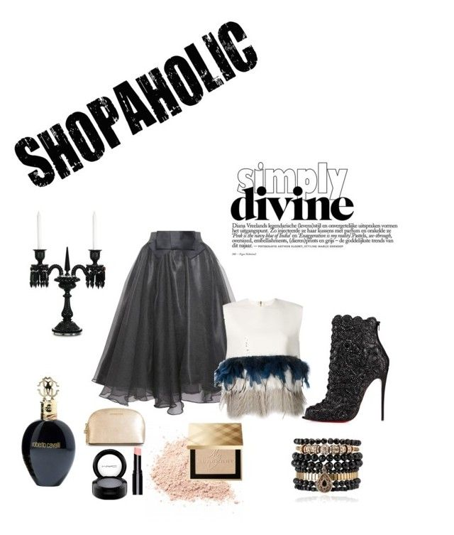 """""""Midnight flair"""" by joanne2016 on Polyvore featuring Christian Louboutin, Relaxfeel, Roberto Cavalli, Dsquared2, Samantha Wills, MAC Cosmetics, MICHAEL Michael Kors, Burberry and Baccarat"""