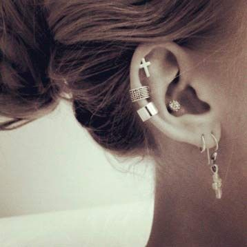 Piercing Types and 80 Ideas On How to Wear Ear Piercings #piercings…