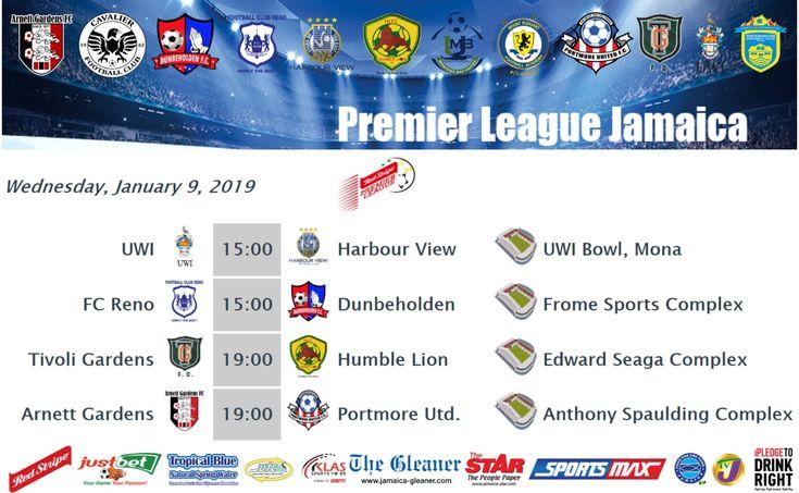 MATCHDAY FIXTURES   Premier league, League, Jamaica