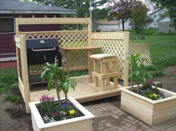 26 best patio ideas images on pinterest outdoor ideas patio diy patios on a budget space to grill something special on solutioingenieria Images