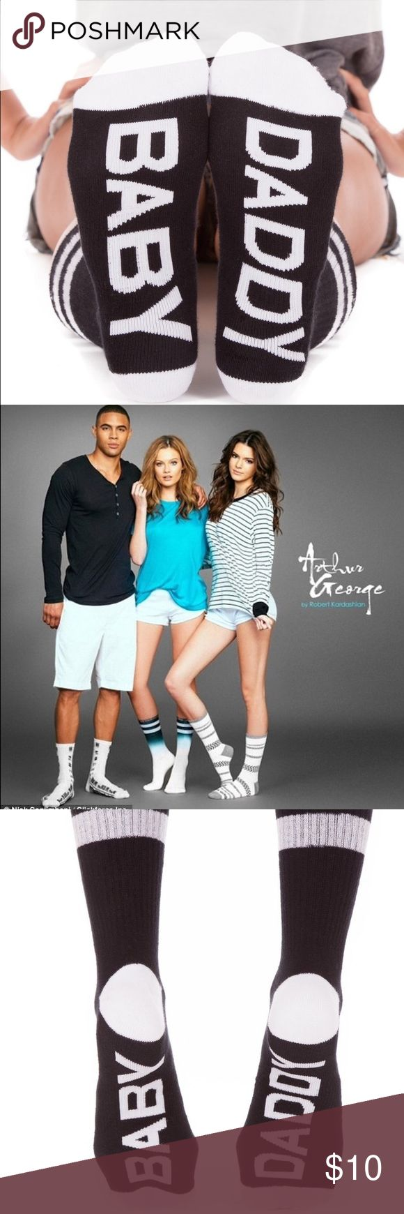 Funky Socks - Arthur George by Robert Kardashian Arthur George socks are famous for their comfort, style, and unapologetic attitude.  Express yourself!!  NWT  - size 7-12 - unisex Kardashian Kollection Underwear & Socks Casual Socks