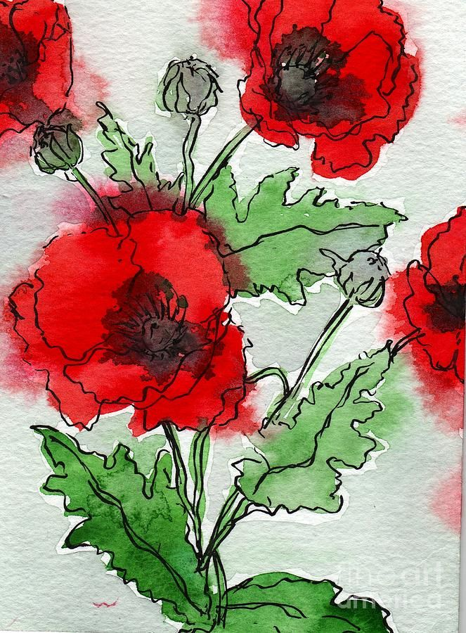 Poppies Popped Painting