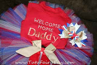 Welcome Home Daddy Tutu Set