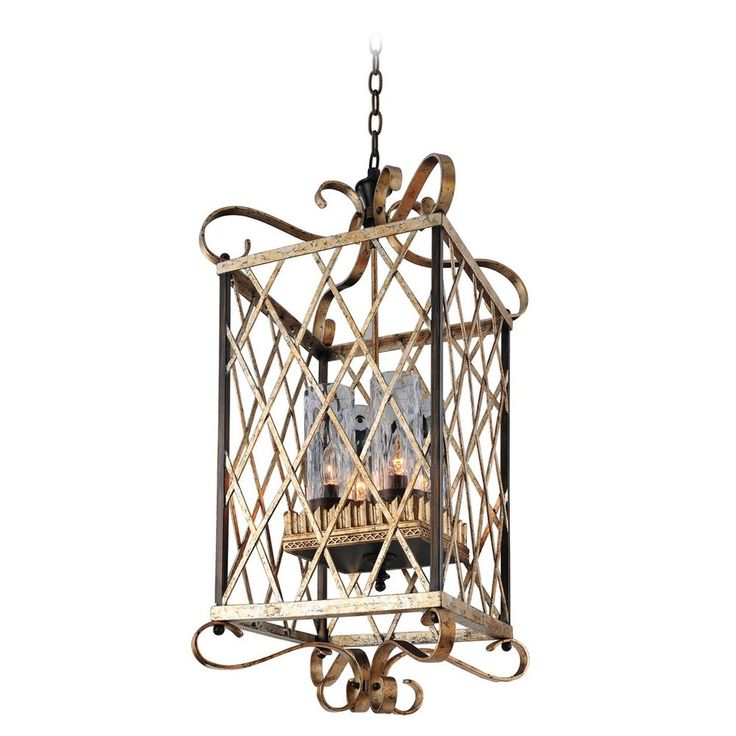 Kalco lighting trellis antique silver leaf pendant light with cylindrical shade