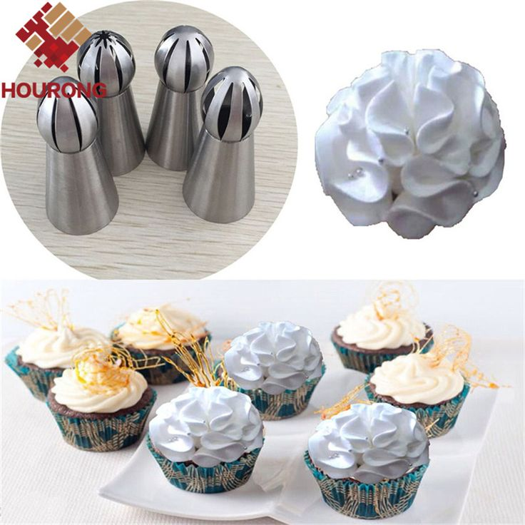 1 St 7 Stijl Zilveren Rvs Tulp Taart Nozzle Torch Russische Nozzle Cake Decorating Tool Ijs Piping Nozzle in      New Arrives  4Pcs/Set   Star Moon Heart Shaped  Stainless Steel  Cake Mold DIY Bread Mold Pastry Bakeware Tra van   op AliExpress.com | Alibaba Groep