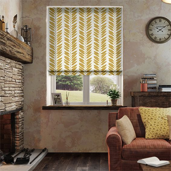 Scion's designs are all about taking the detail out and admiring shapes in their simplest form, and it certainly shows with this Malva Golden Syrup roman blind.