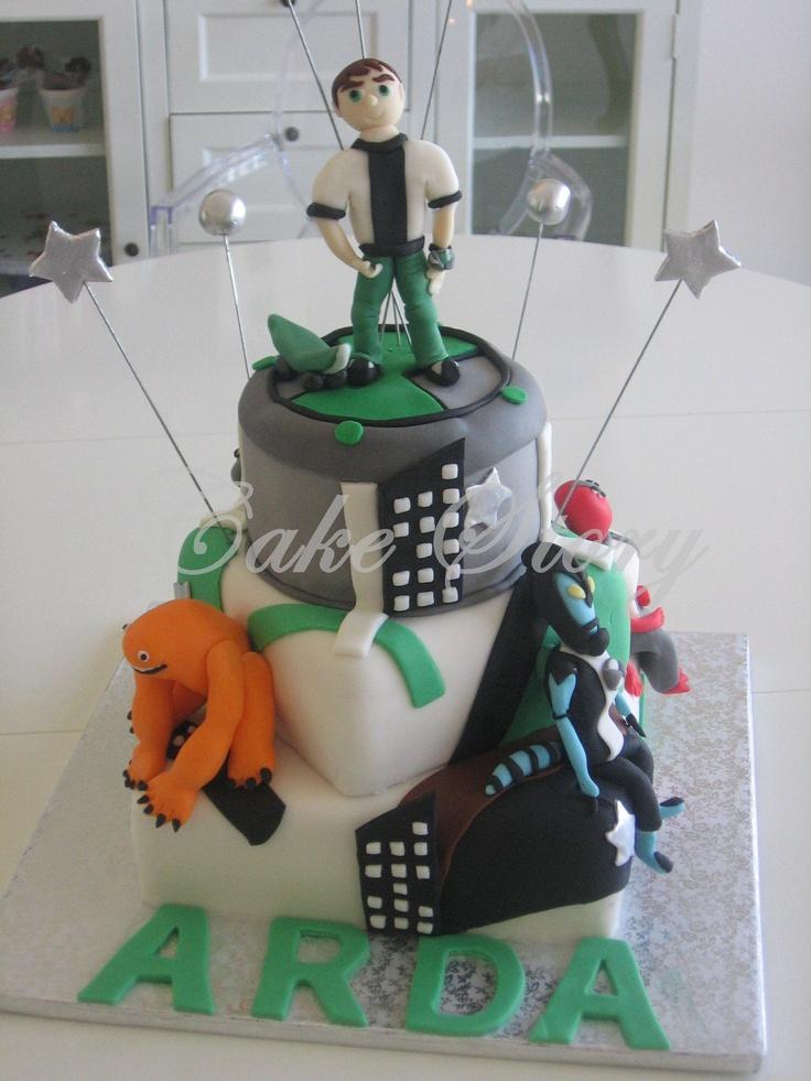 Ben 10  birthday cake... ben 10 doğum günü pastası