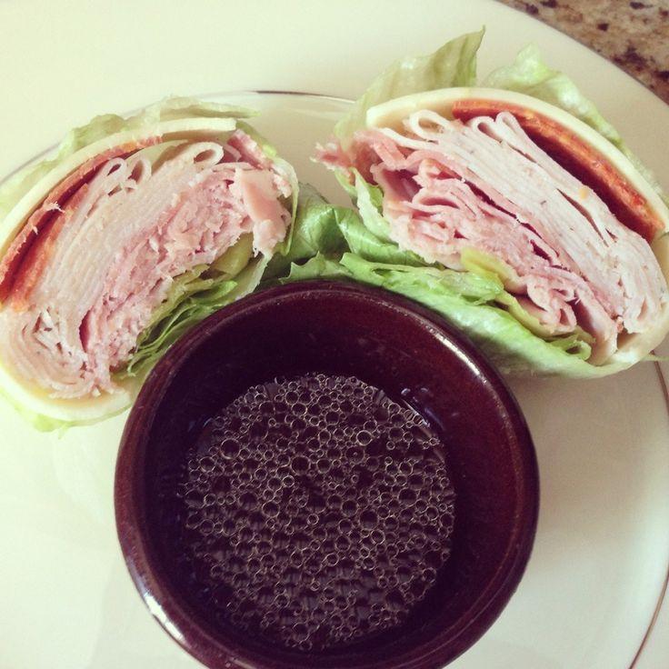 "#Keto Recipe: Tasty Italian ""Sub"" w/ Lettuce Wrap - no bread!"