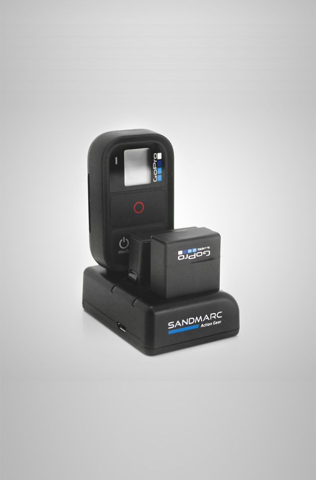 SANDMARC Procharge: All-in-one charger for your GoPro Hero 4, 3+ and Wifi Remote. Learn more at sandmarc.com