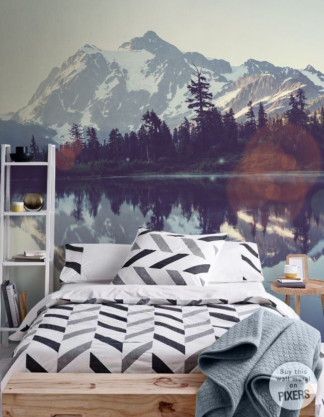 Wall Mural Picture lake wall mural • Inspirations • PIXERSIZE.com