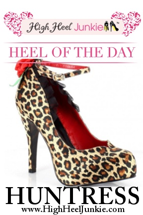 Today's Heel of the Day is Huntress - a closed-toe leopard print pump with