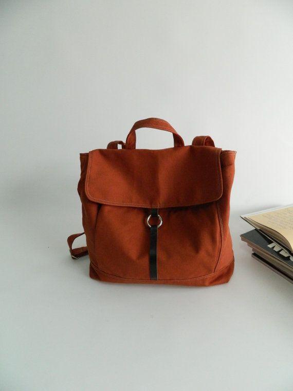 SALE SALE SALE Tanya in pumpkin // Backpack / par christystudio