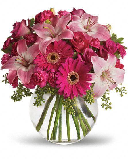 I Love PINK Bouquet for MOTHER'S DAY A Little Pink Me Up Flowers, A Little Pink Me Up Flower Bouquet - Teleflora.com