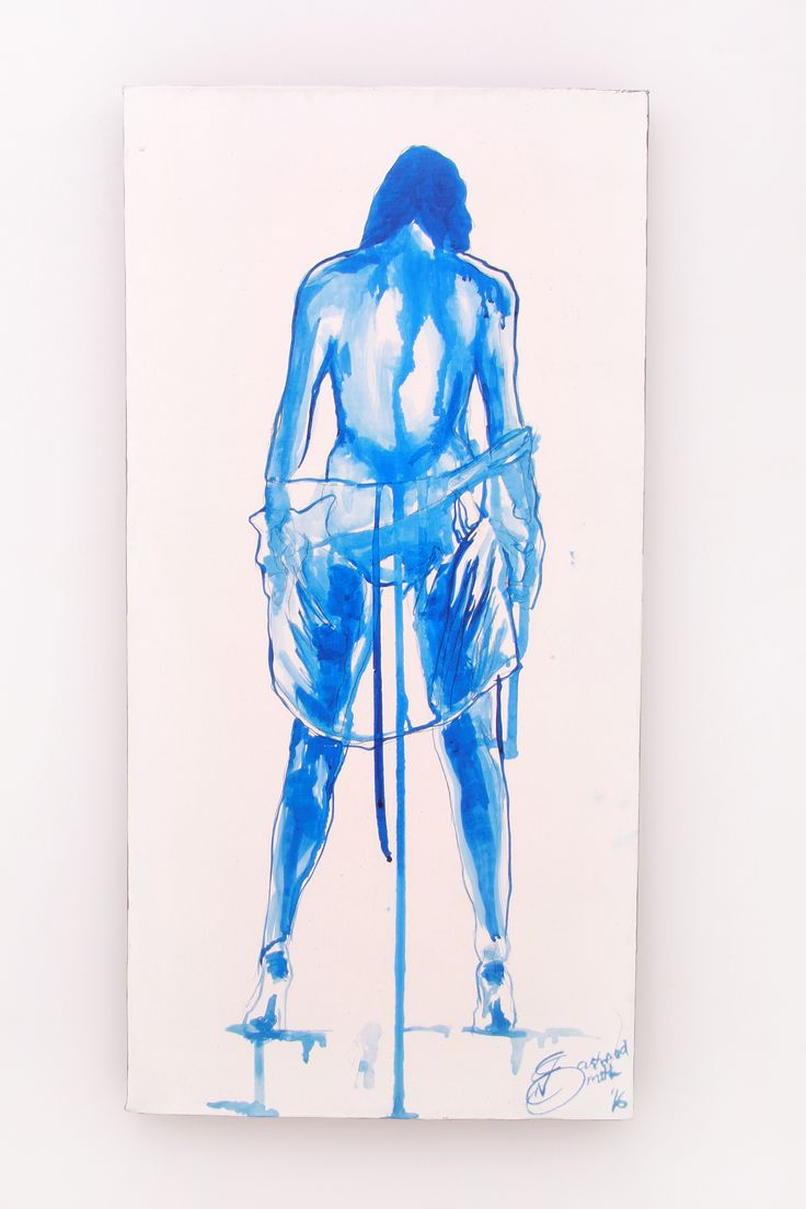 Natalie Eastwood Smith Ink on Canvas  350X610 Effeminate II