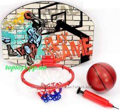 Баскетбол баскетбольное кольцо металлическое, щит, мяч. Набор Баскетбол