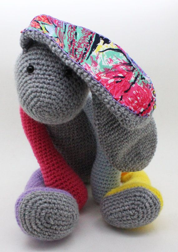 Cute Amigurumi Rabbit with long ears. by QueTramas on Etsy