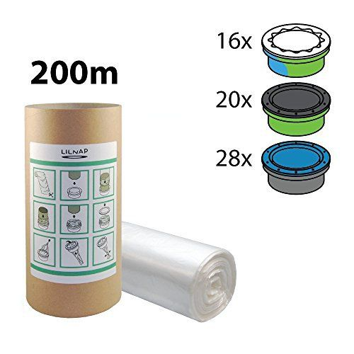 Recharges de poubelle à couches et anti-odeurs compatible avec Sangenic, Angelcare et Litière Litter Locker II – équivaut à 16 Recharges…