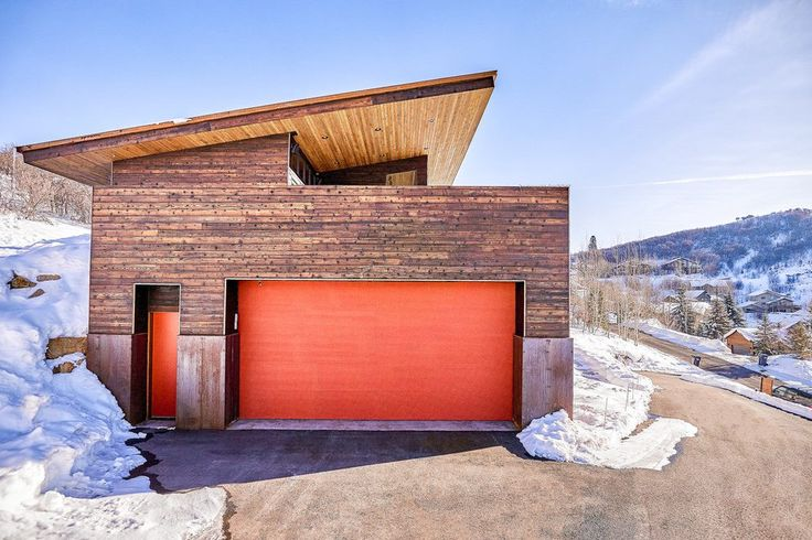 Steel Building Homes Garage Contemporary With Orange