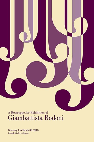 bodoni typeface poster - Google Search