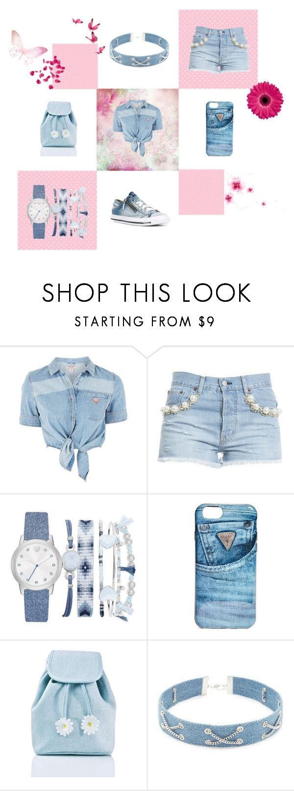 """Just Denim"" by iris913 ❤ liked on Polyvore featuring GUESS, Forte Couture, A.X.N.Y., Sugarbaby, Forever 21, Diesel, denim, distresseddenim and justdenim"