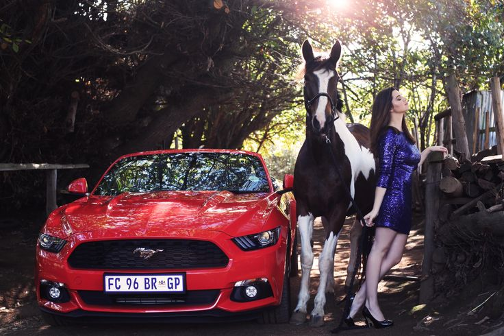 Mustang, Model and Horse  Photographed by Tegan Smith Photography   #CollabwithFordSA , #Ford, #Mustang