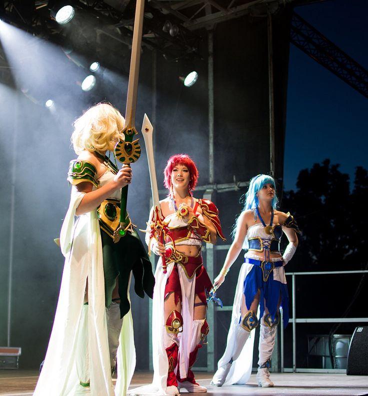 Cosplay stage performance idea.  TeamCosplay NärCon sommar. LemonBlast cosplay as Fuu , Hikaru and Umi