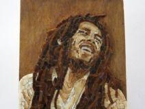Bob Marley / ritratto in mosaico