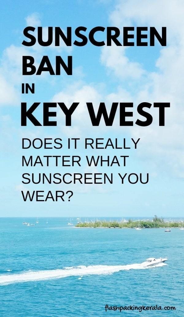 Sunscreen BAN in Key West?! Best sunscreen for Florida Keys - beach
