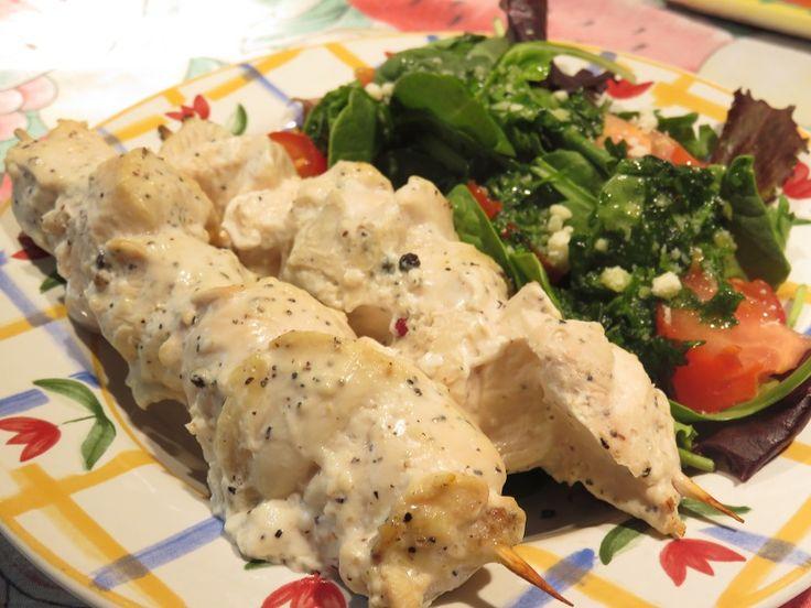 Brochette de poitrine de poulet shish taouk