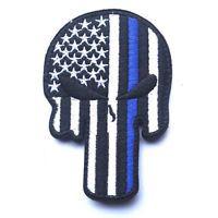 USA FLAG PUNISHER SKULL ARMY U.S. FLAG 3D TACTICAL HOOK LOOP PATCH MORALE BADGE