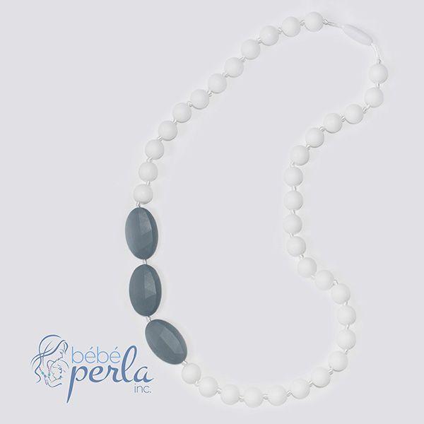 Silicone teething necklace - Chic www.bebeperla.com