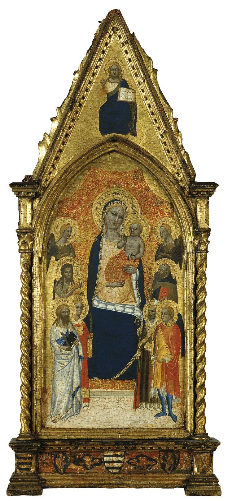 The Virgin and Child between Angels and six Saints / La Virgen con el Niño entre ángeles y seis santos // ca. 1362 - 1367 // Niccolò di Tommaso // © Thyssen-Bornemisza Museum