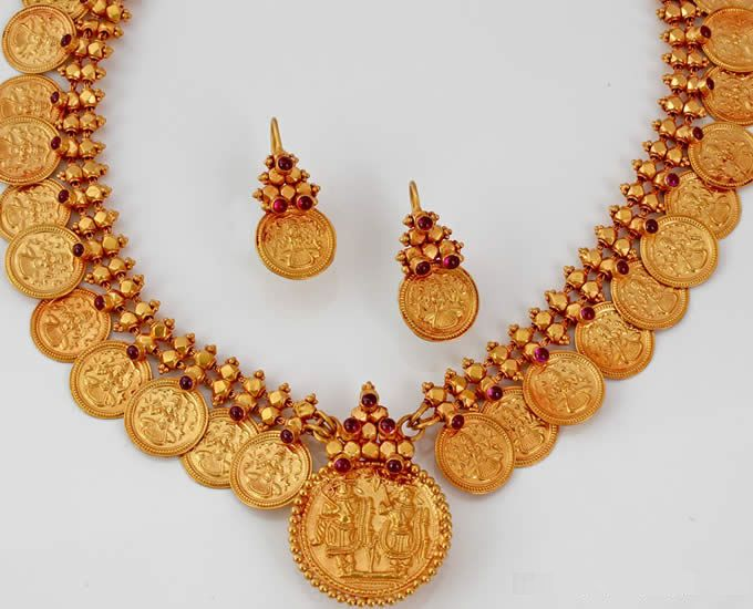 Antique Jewellery Kasumalai Coin Necklace, Kasu malai, Kerala Traditional Jewellery