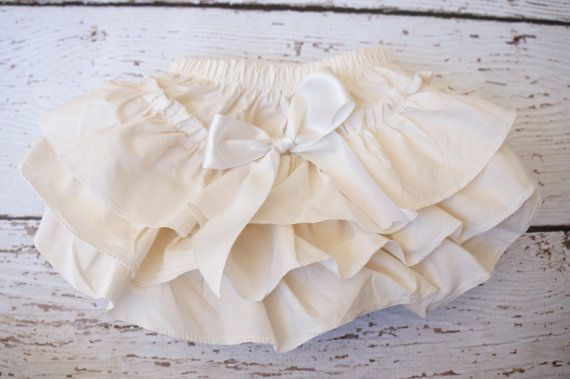 ivory ruffle diaper cover  Diaper cover  baby by PoshPeanutKids, $13.50