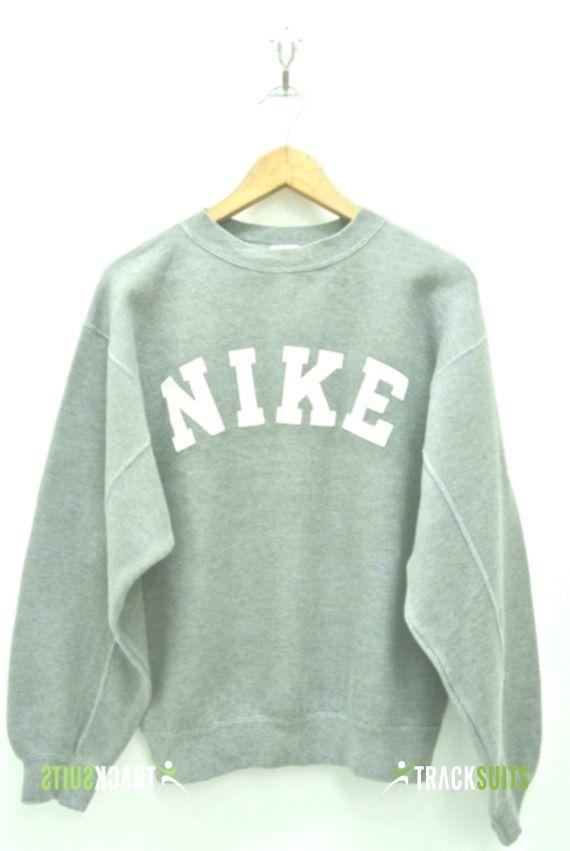 Nike Sweatshirt Mens Small Vintage Nike Pullover 90s Nike Crewneck Nike Gray Tag Sweater Nike Spell Out M Nike Pullover Sweatshirts Vintage Crewneck Sweatshirt