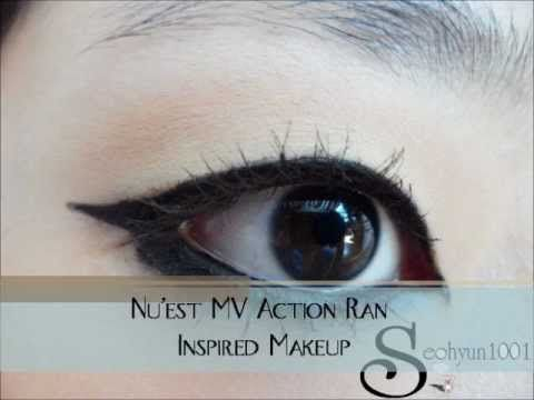 "Nu'est MV ""Action"" Ren Inspired Makeup / 뉴이스트 뮤비 ""엑션"" 렌 메이크업 - YouTube"