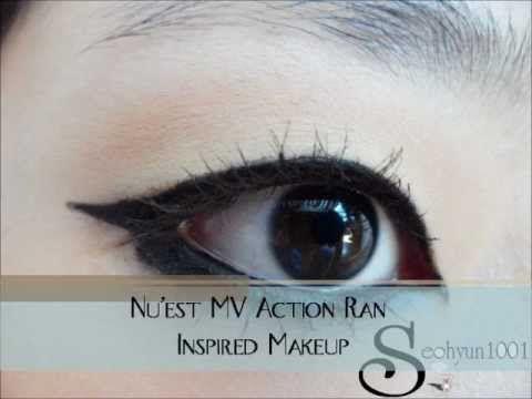 "Nu'est MV ""Action"" Ren Inspired Makeup / 뉴이스트 뮤비 ""엑션"" 렌 메이크업 - YouTube"