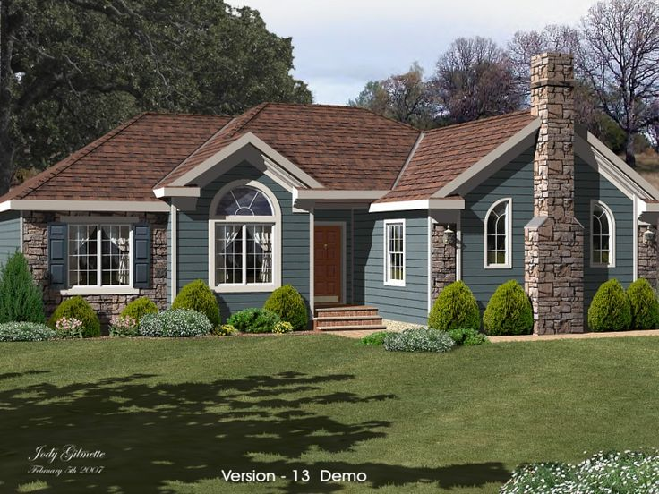 54 best images about blue houses on pinterest exterior for Ranch homes with vinyl siding