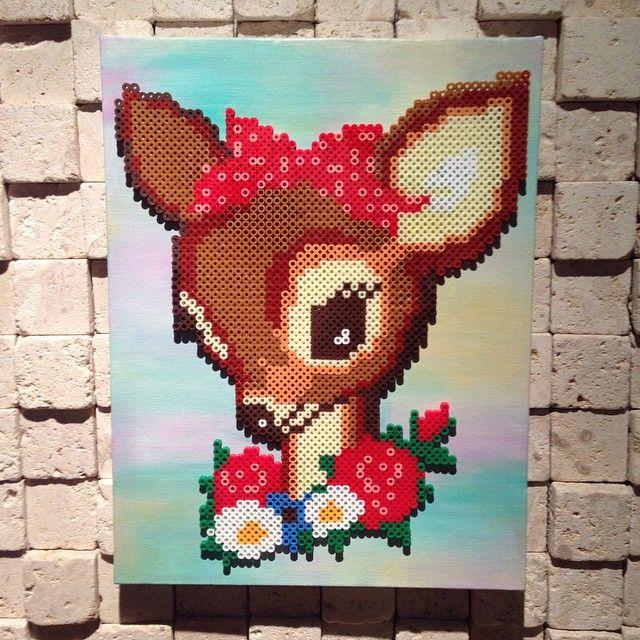 Dear bambi perler bead art by oleehamo