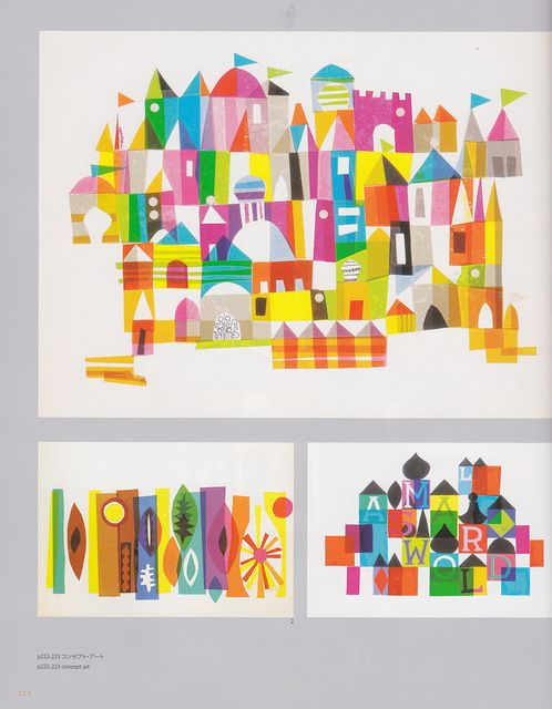 """Colors of Mary Blair by melpenguin on Flickr.    Via Flickr:  """"It's a Small World"""" concept art"""