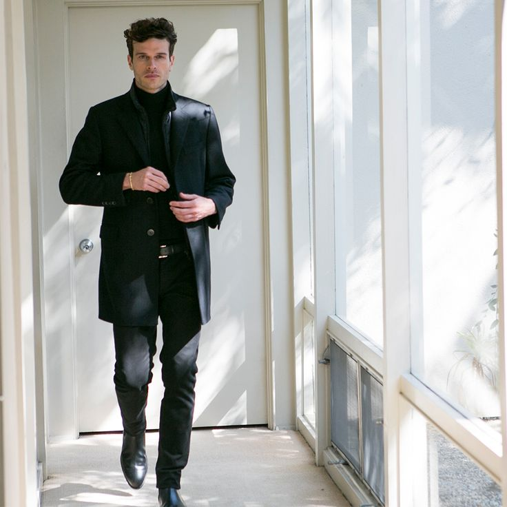 A most versatile elegance for the man with creative vision. Ivan Olita wears the Fay Double Coat.