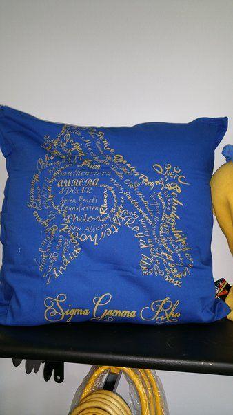 Sigma Gamma Rho Pillow | Greek Sorority apparel and accesories