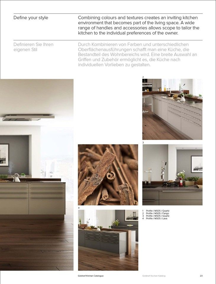 Awesome Kitchen catalogue K chen katalog Goldreif Kitchen Catalogue Gold