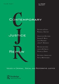 (2017). Mental health issues and the Canadian criminal justice system*. Contemporary Justice Review: Vol. 20, No. 1, pp. 2-25. doi: 10.1080/10282580.2016.1226817