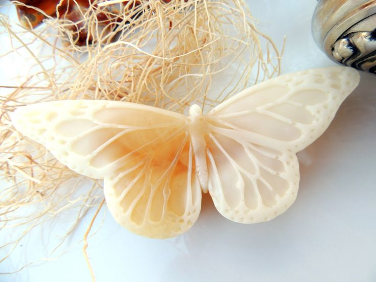 GOATS MILK & HONEY Butterfly Soap, Scented in Wild Honey, Handmade Vegetable Based by thecharmingfrog on Etsy https://www.etsy.com/listing/168795580/goats-milk-honey-butterfly-soap-scented