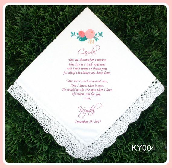 Hey, I found this really awesome Etsy listing at https://www.etsy.com/listing/240915703/mother-of-the-groom-handkerchief-from