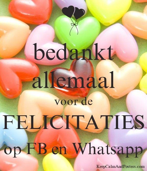 bedankt allemaal voor de felicitaties op fb en whatsapp - keep calm