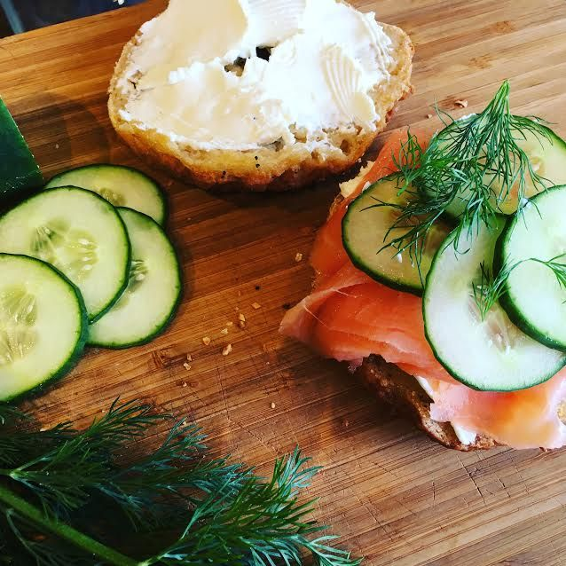 Gluten-free bagel with cream cheese and lox at Plum Bakery, Montclair, NJ - Jersey Bites