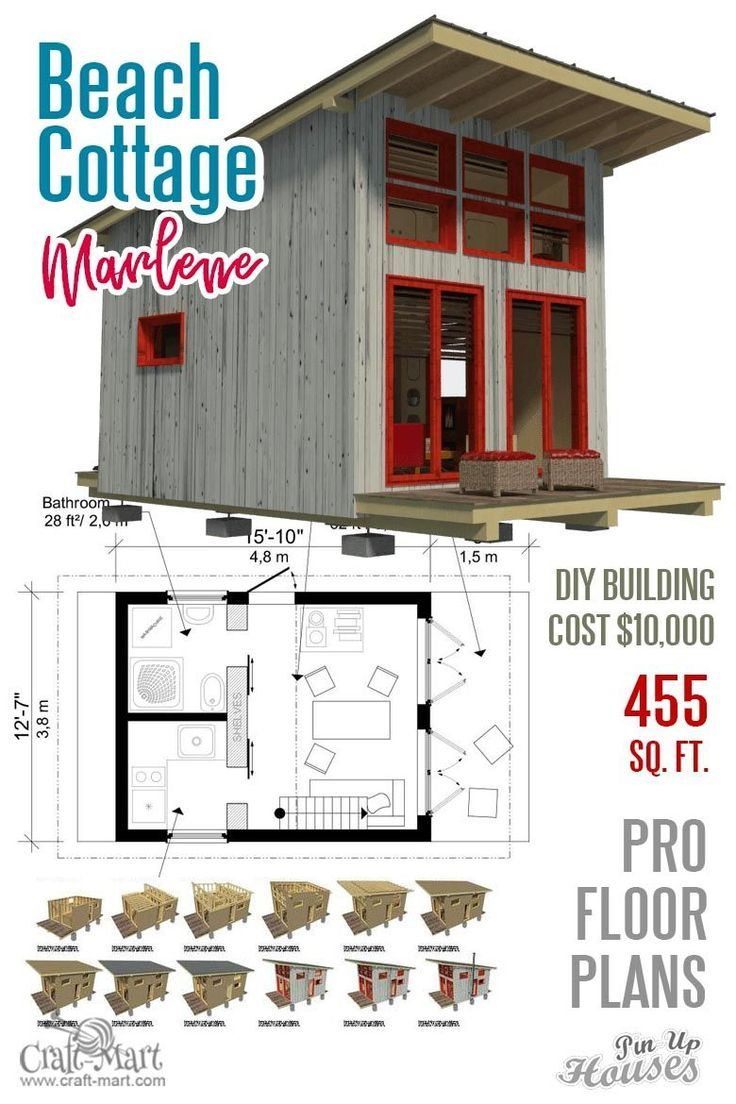 Awesome Small House Plans Under 1000 Sq Ft Cabins Sheds Playhouses Housede In 2020 Plannen Voor Kleine Huizen Kleine Huizen Huizen