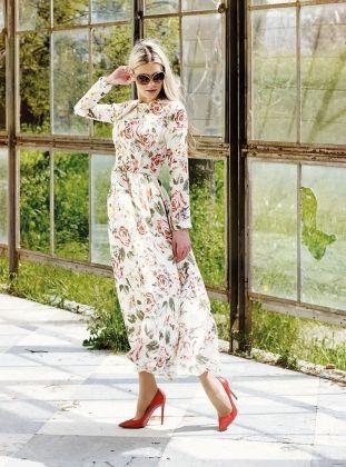 Pertev Nihal Elbise - Desenli - Kuaybe Gider http://indirimkodlarim.com/modanisa